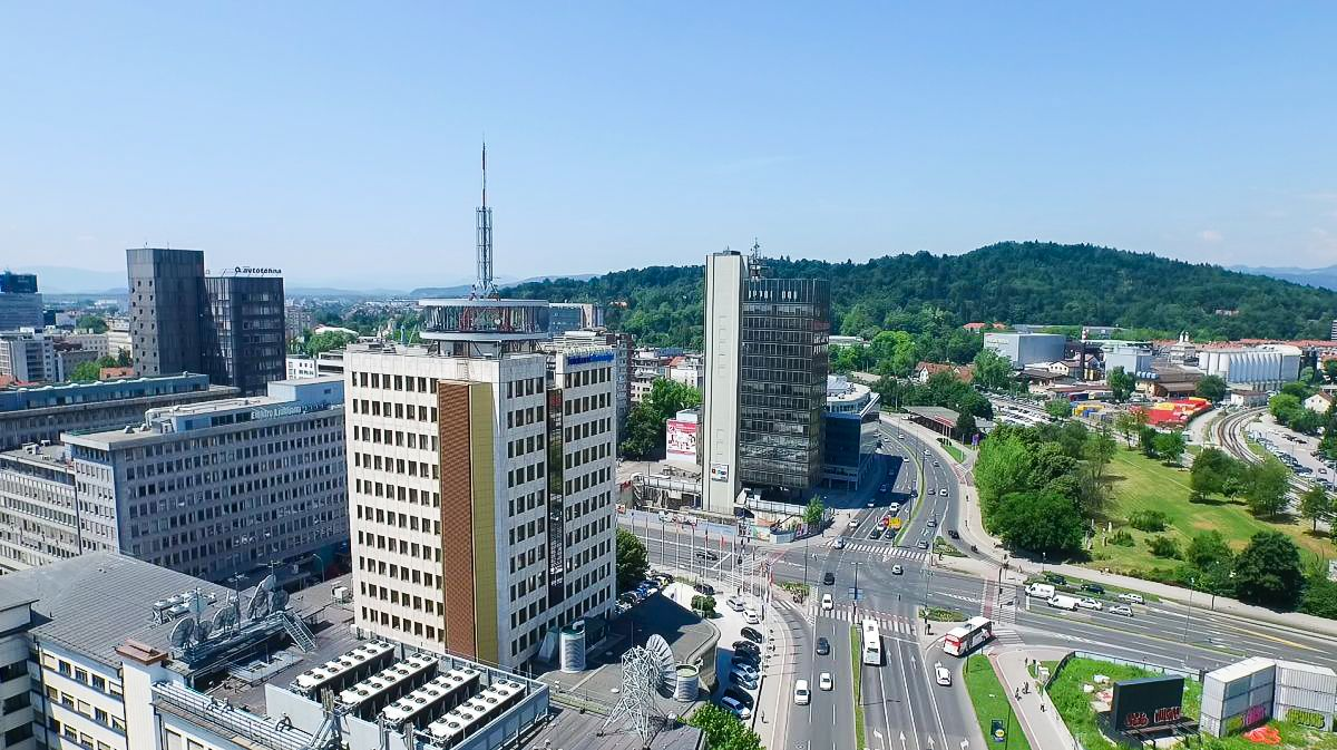 Stavba Telekoma Slovenije v Ljubljani. Foto: RTV SLO/ Ergyn Zjeci