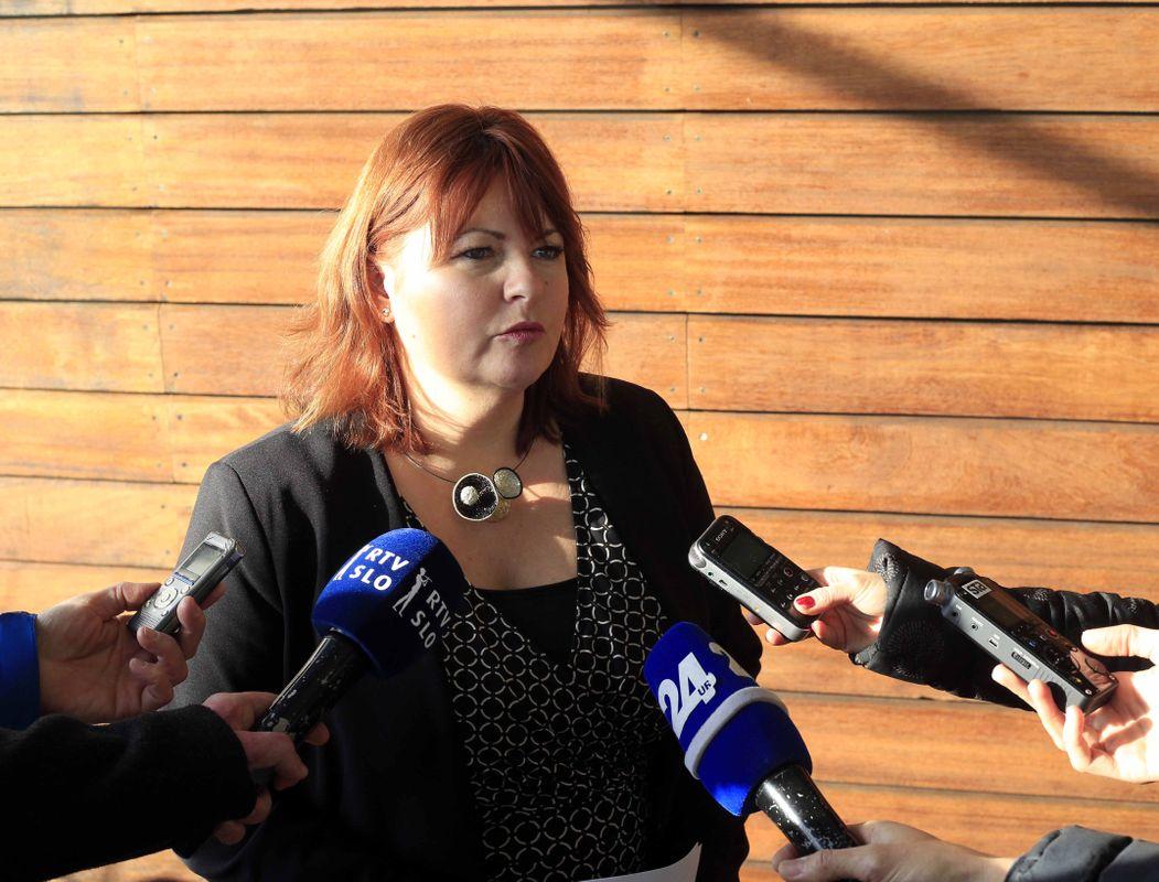 Tanja Muha je dejala, da razume skrbi protestnikov, a da Akos za presojo vplivov na zdravje ni pristojen. Foto: BoBo