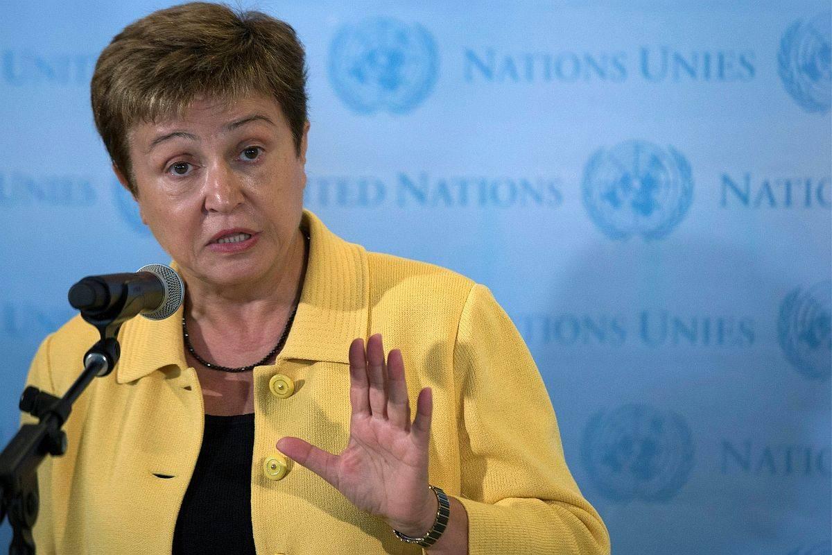 Direktorica Mednarodnega denarnega skada (IMF) Kristalina Georgieva. Foto: Reuters