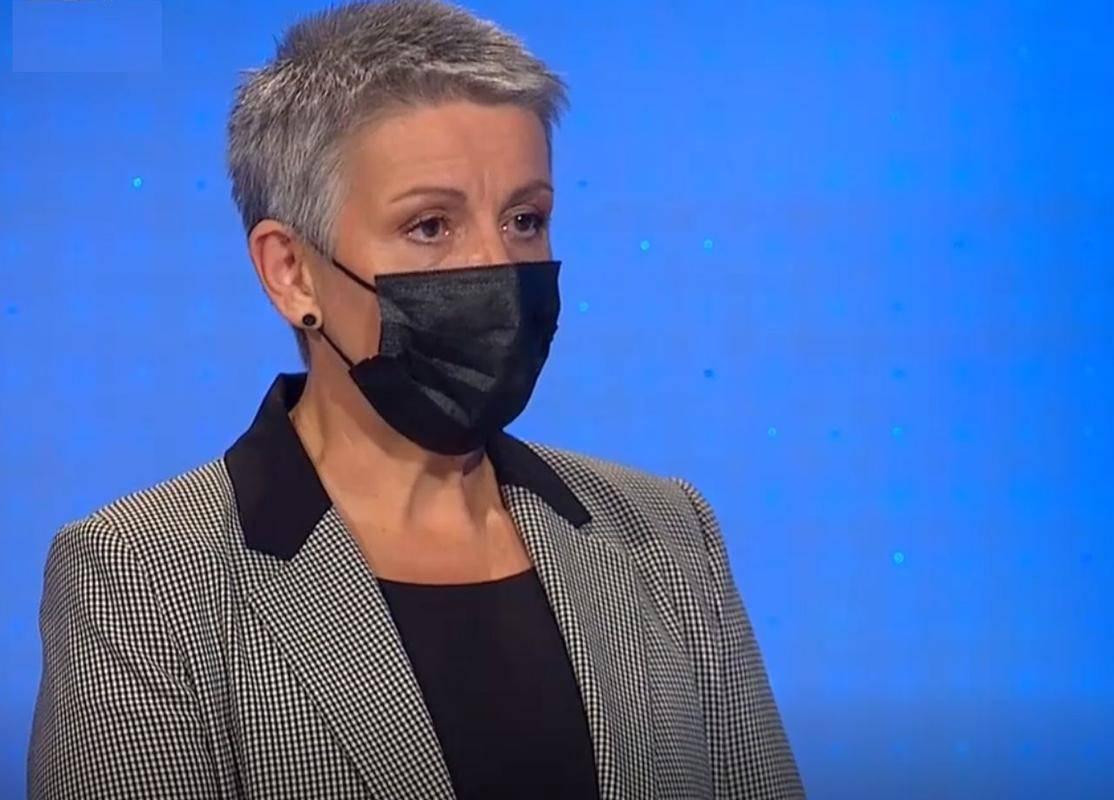 Lidija Jerkič, predsednica Zveze svobodnih sindikatov Slovenije. Foto: TV Slovenija, zajem zaslona