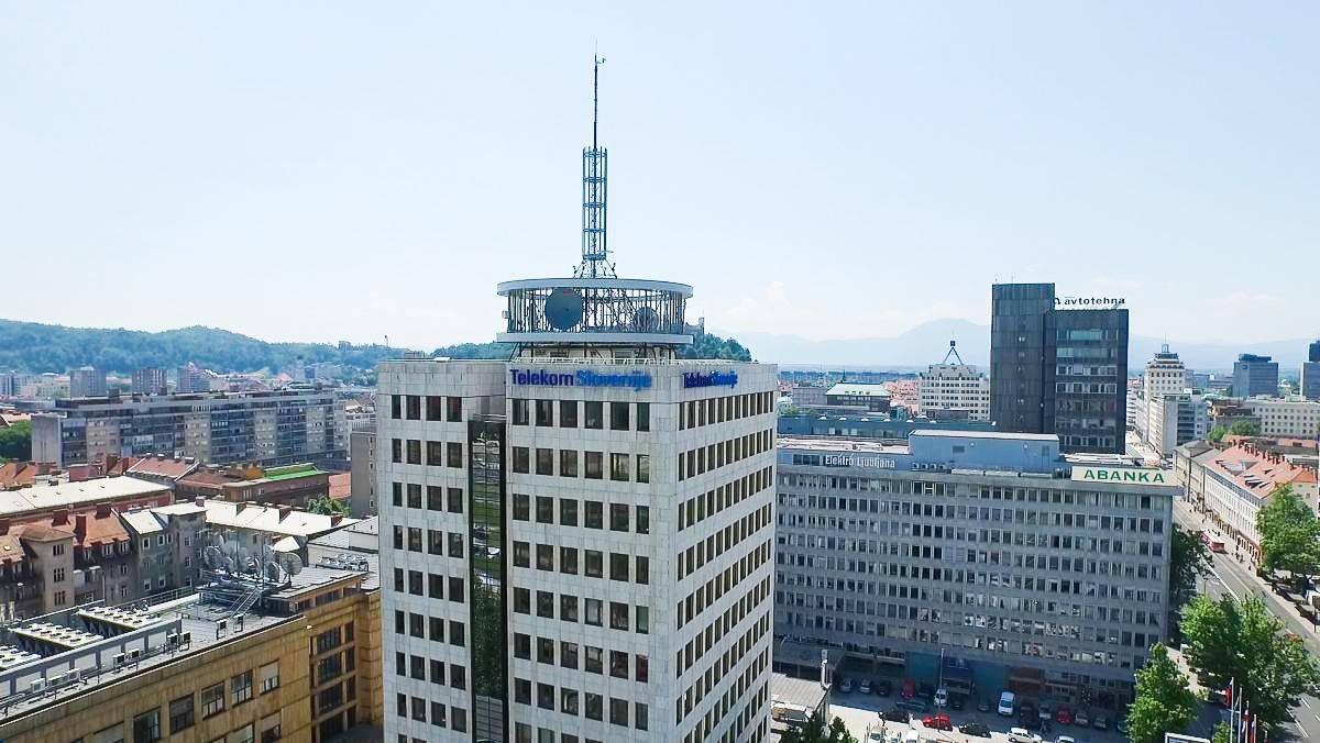 Stavba Telekoma Slovenije v Ljubljani Foto: RTV SLO
