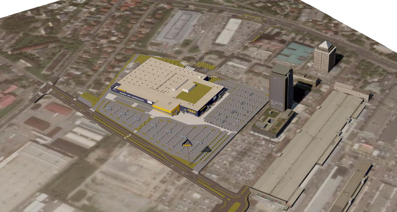 Ikea, ki stoji v BTC-ju, meri več kot 31 tisoč kvadratnih metrov. Foto: Ikea