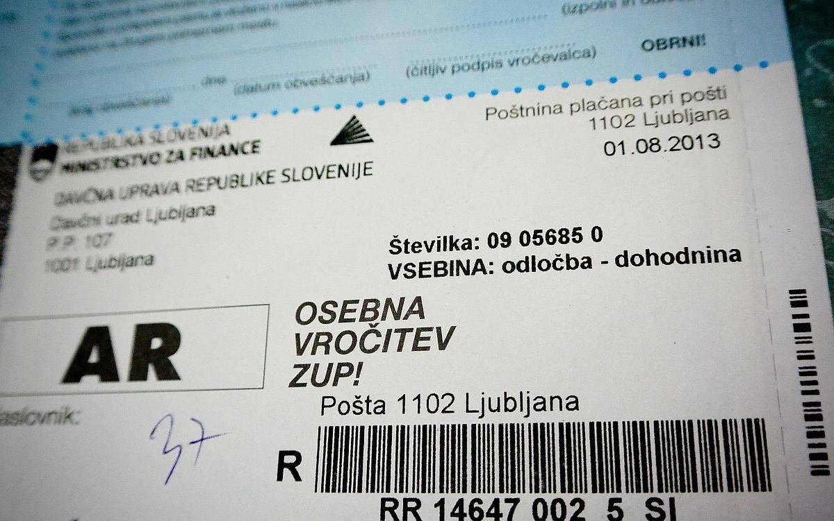 V poštne nabiralnike v prihodnjih dneh prihajajo informativni izračuni dohodnine. Foto: BoBo