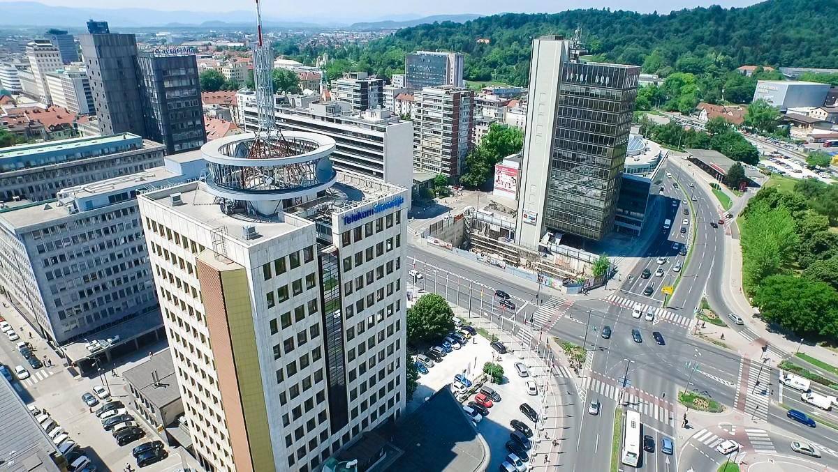 Stavba Telekoma Slovenije v Ljubljani. Foto: RTV Slovenija
