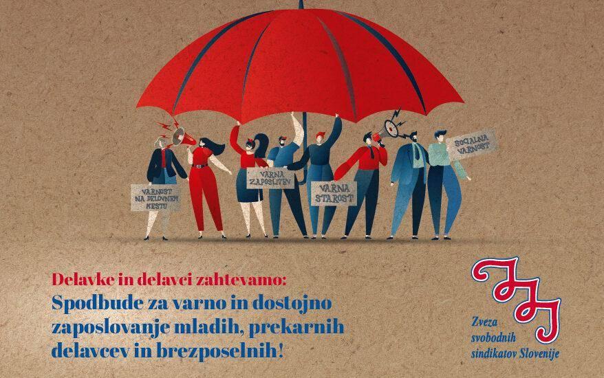 Varnost zaposlitve pomeni tudi ustrezno plačilo, dostojno delo in trajnost zaposlitve, poudarjajo pri ZSSS-ju. Foto: ZSSS/spletna stran