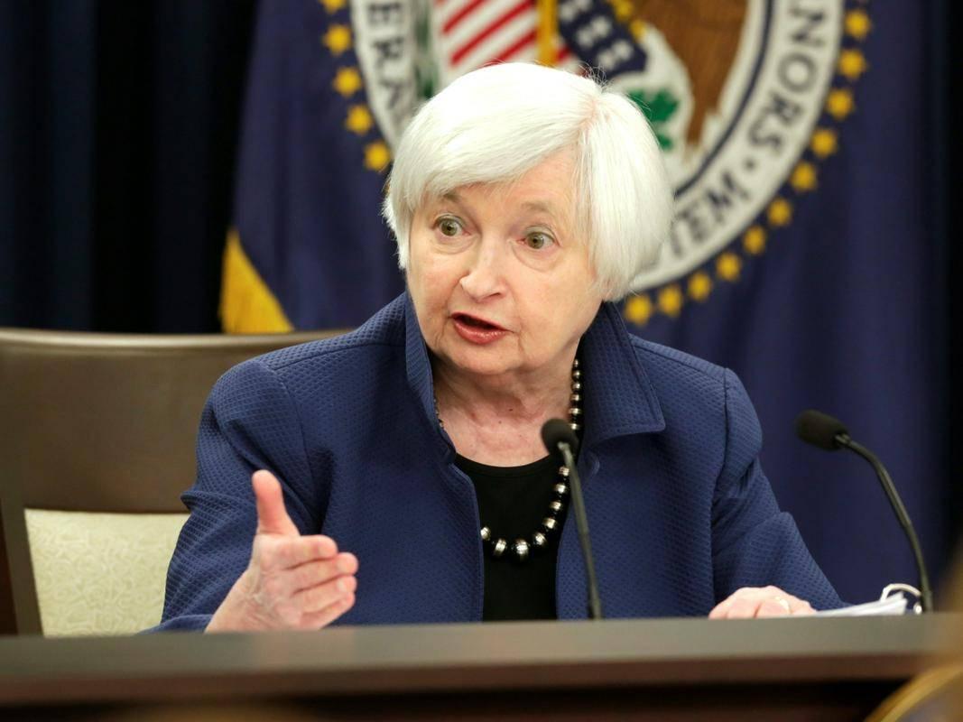 Janet Yellen je v torek malce prestrašila vlagatelje, občutno so padle predvsem tehnološke delnice, tako da se je indeks Nasdaq (13.633 točk) znižal za skoraj dva odstotka, medtem ko je elitni Dow Jones (34.133 točk) nadoknadil dopoldanski padec in dan končal rahlo v zelenem območlju. Foto: Reuters