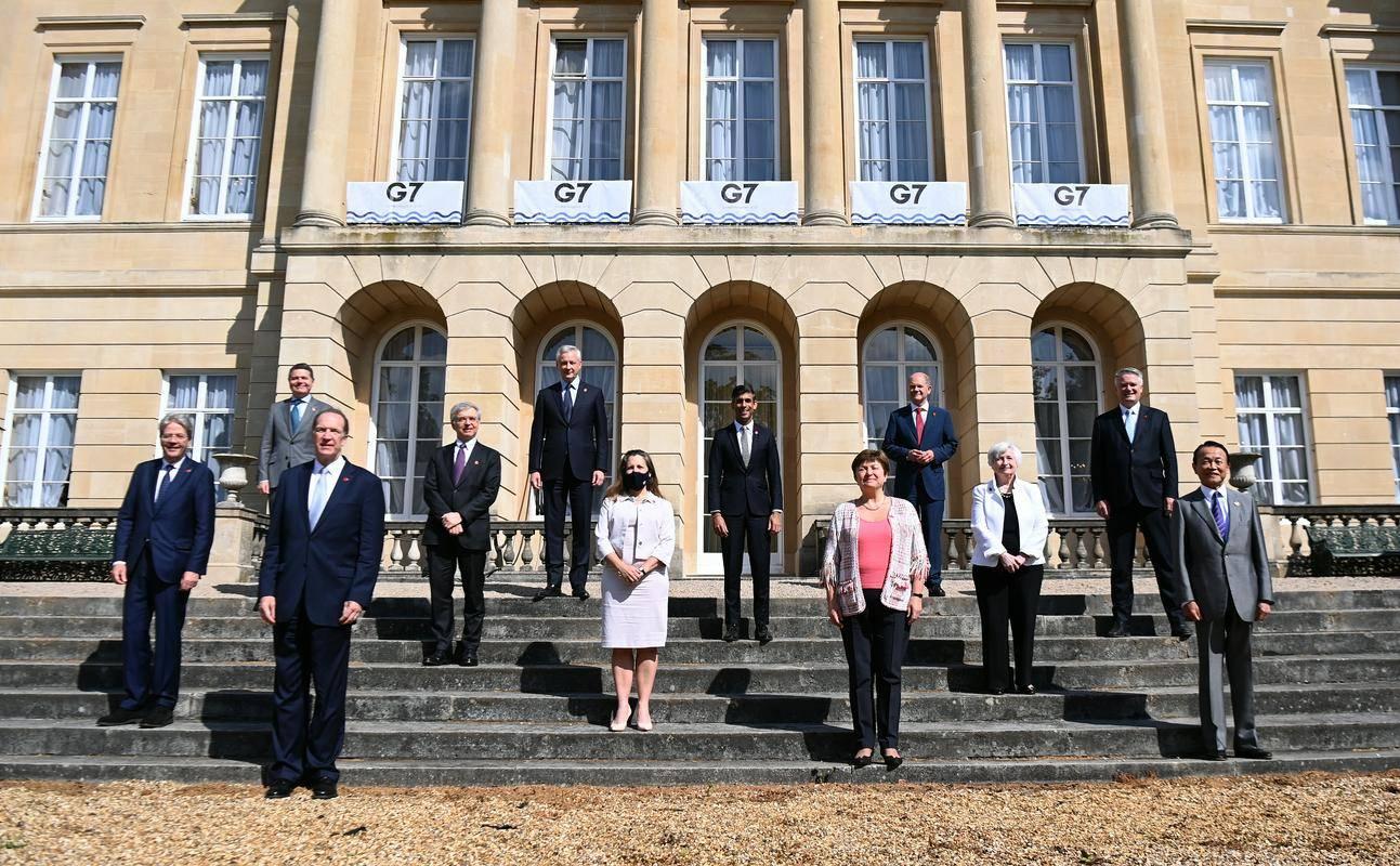 Ministri skupine G7 so se zbrali v Londonu. Foto: EPA