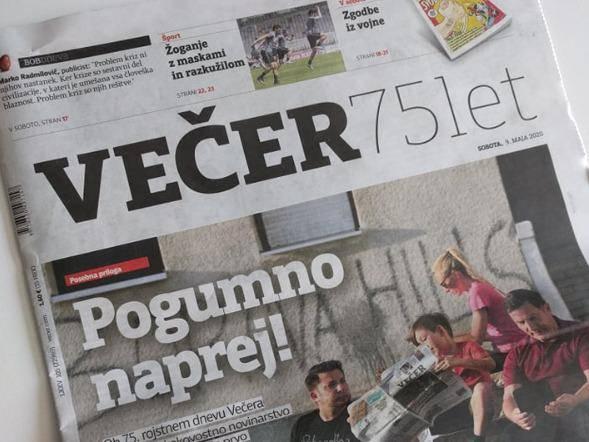 Časopis Večer so maja kupila podjetja v krogu Martina Odlazka. Foto: MMC RTV SLO