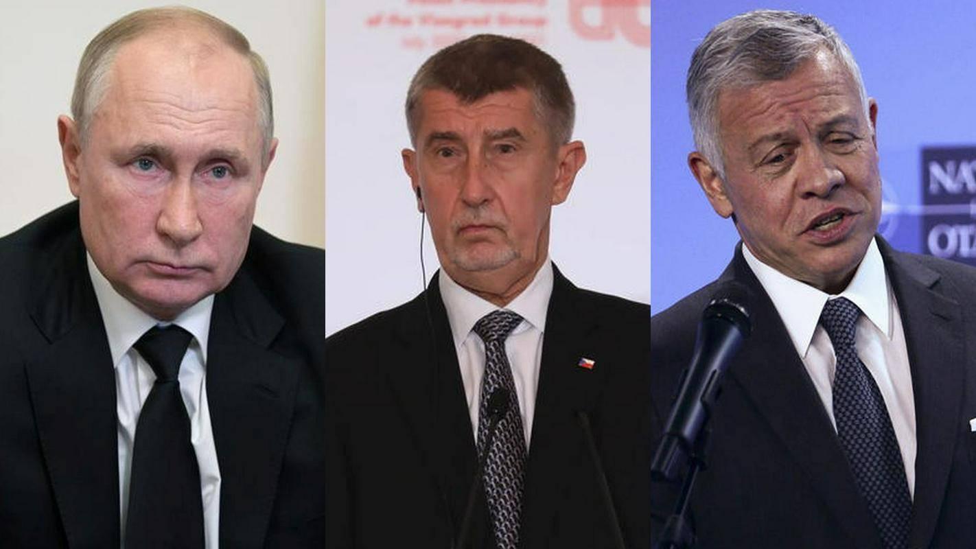 Dokumenti so razkrili skrivnosti Putina (levo), Babiša (v sredini) in kralja Abdulaha. Foto: EPA